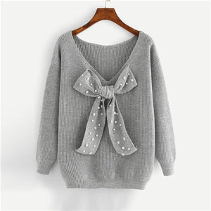 Autumn Elegant Plus Size Dropped Shoulder Pullover Sweater Autumn
