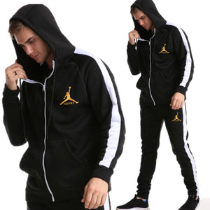 2019 New Brand Tracksuit Fashion JORDAN 23 Men Sportswear Two Piece Sets All Cotton Zipper sports hoodie+Pants Sporting Suit Mal - vajshoping