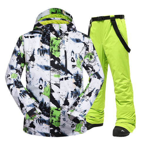 New Ski Outdoor Windproof Waterproof Thermal Snow Jacket And Pants