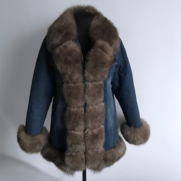 Denim Parka Ideal for Winter