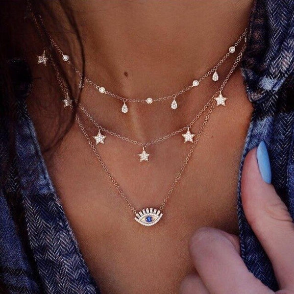 Very beautiful decoration on the delicate neck of women