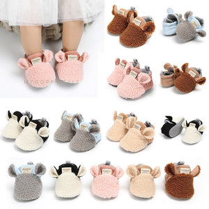 Newborn Baby Autumn Winter cotton Warm Soft Sole Plush - vajshoping