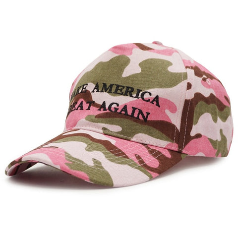 New KEEP AMERICA GREAT Camouflage Trump 2020 Cap Embroidery