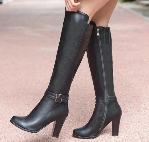 Women boots made of quality faux leather - vajshoping