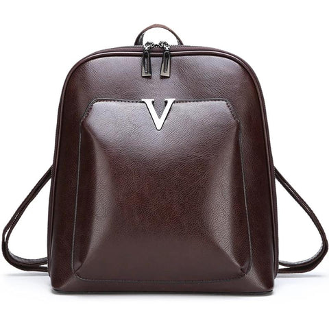 Famous Brand PU Leather Backpack
