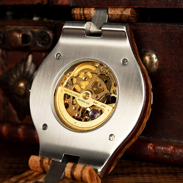 Men Wooden Wristwatches Mechanical - vajshoping