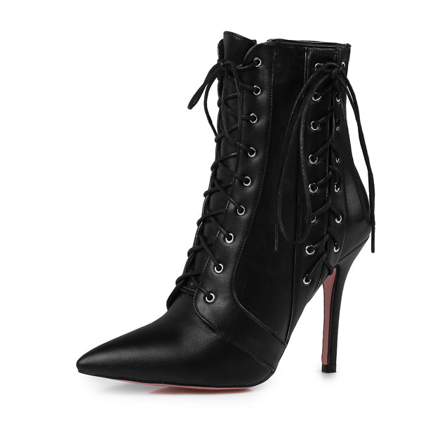 New Fashion High-heeled Women Ankle Boots