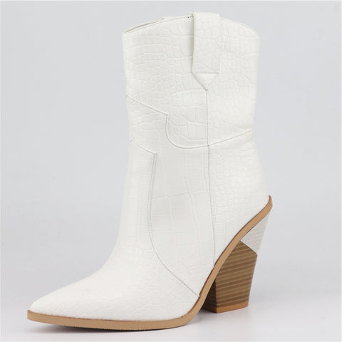 New Brand Women Autumn Western Ankle Boots - vajshoping