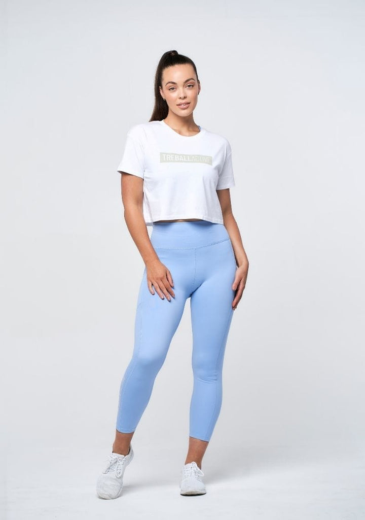 Bailey Cropped Tee - White