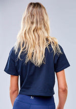 Bailey Cropped Tee - Navy
