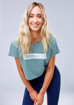 Bailey Cropped Tee - Green