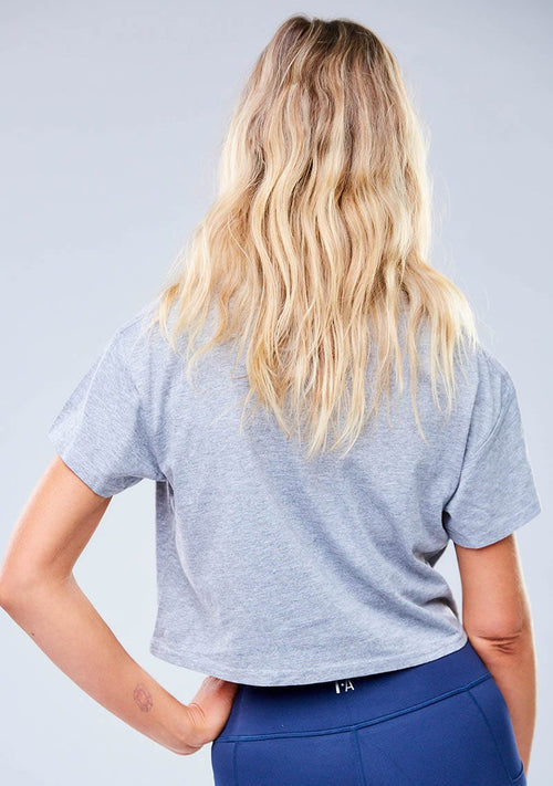 Harvey Cropped Tee - Grey