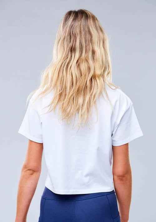 Harvey Cropped Tee - White