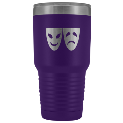 Happy and Sad Face Masks stainless steel vacuum insulated hot and cold beverage container