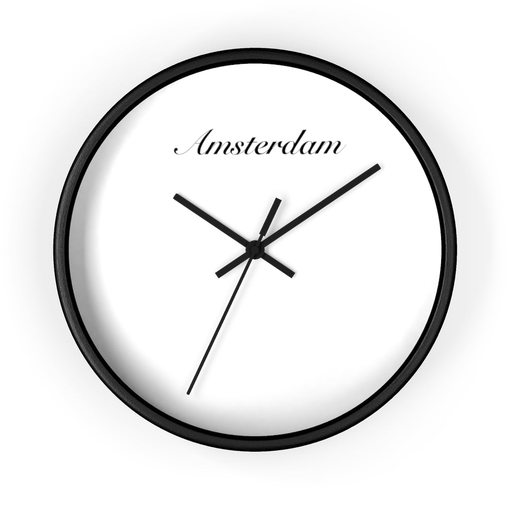 Amsterdam City Name Wall clock