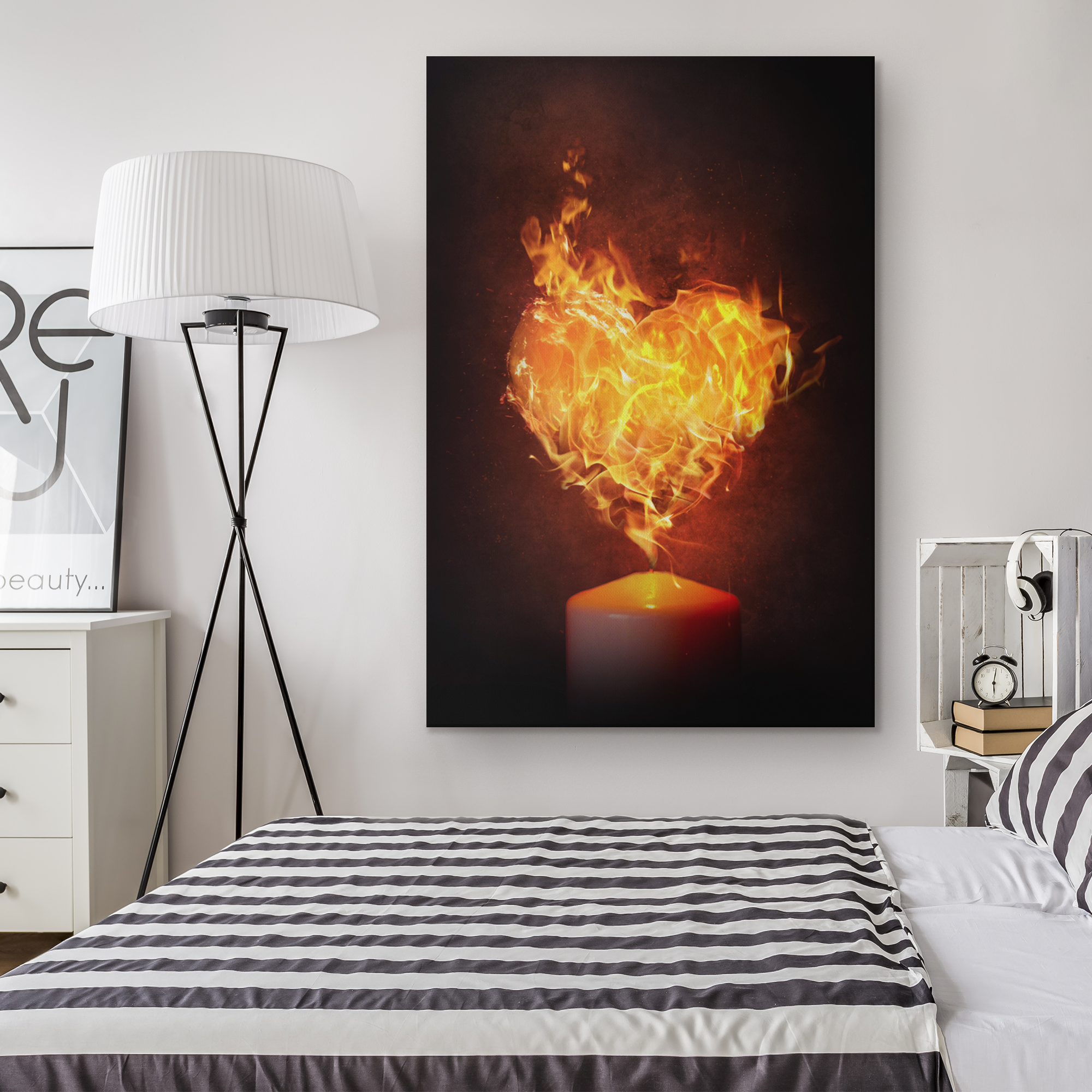 Heart on fire - Rectangle Gallery Canvas Art