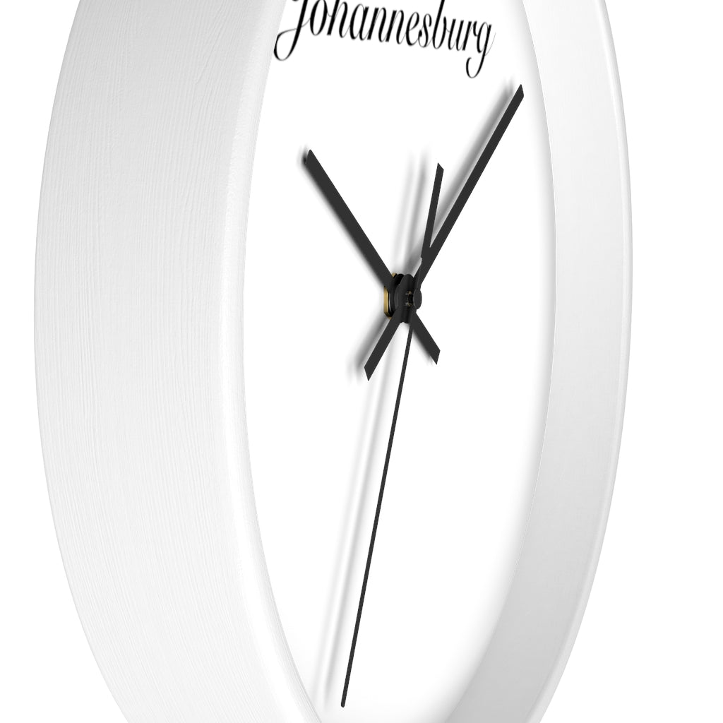 Johannesburg City Name Wall clock