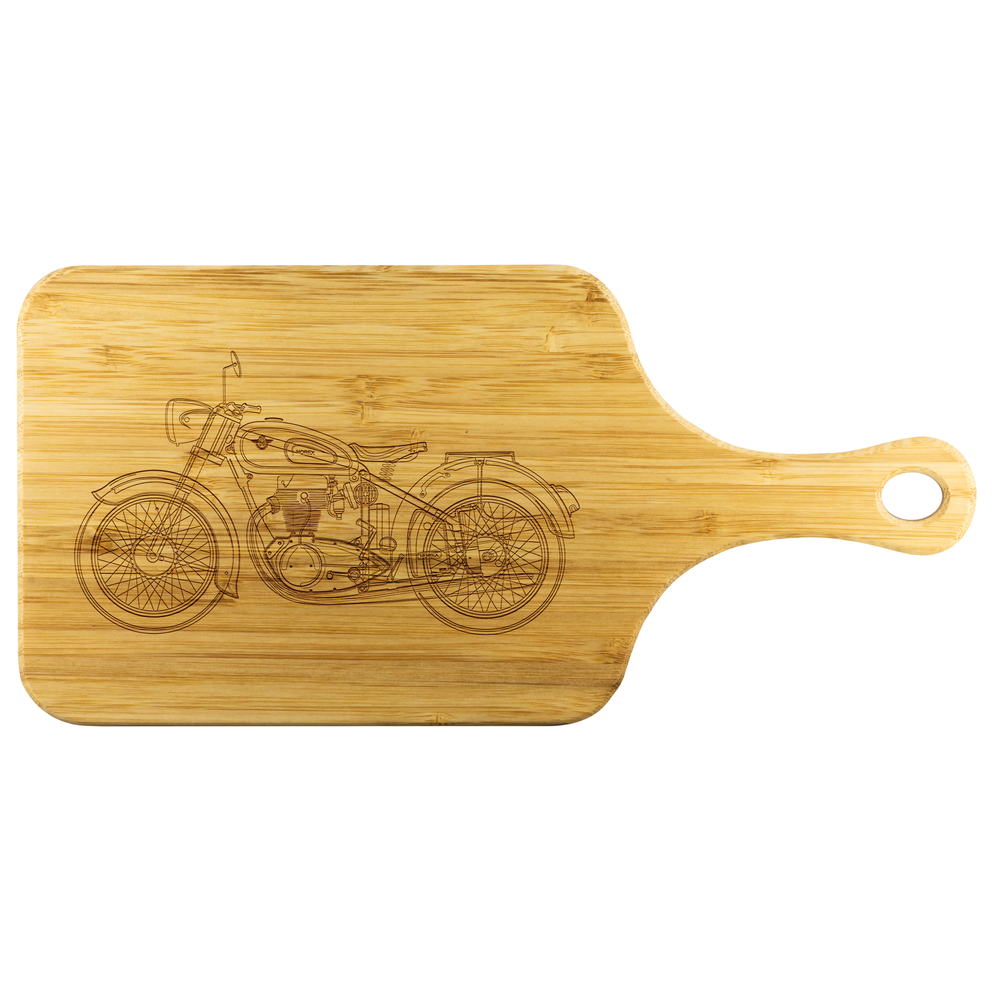 Motor Cycle - Wood Cutting Board With Handle