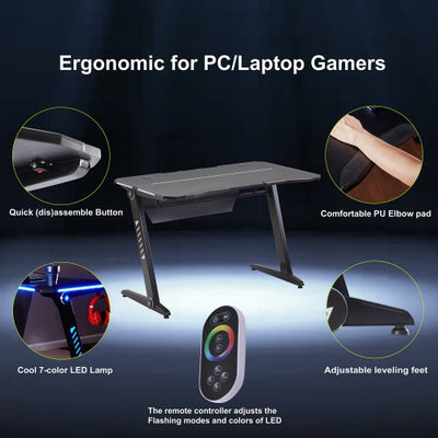 Lighted Color changing Gaming / Work Desk