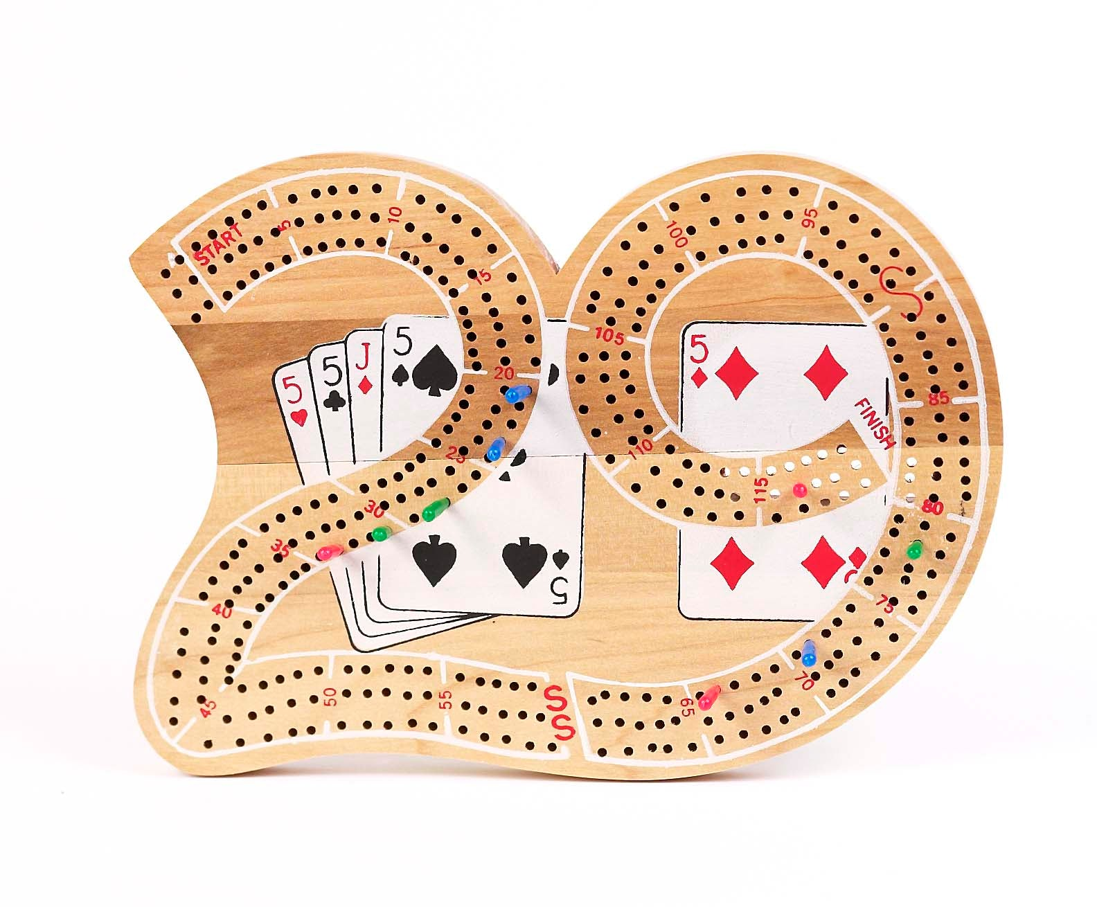 Big 29 Triple Track Wood Cribbage board