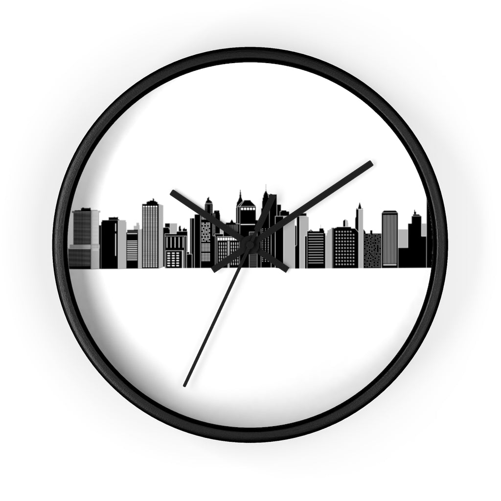 New York sky line Wall clock