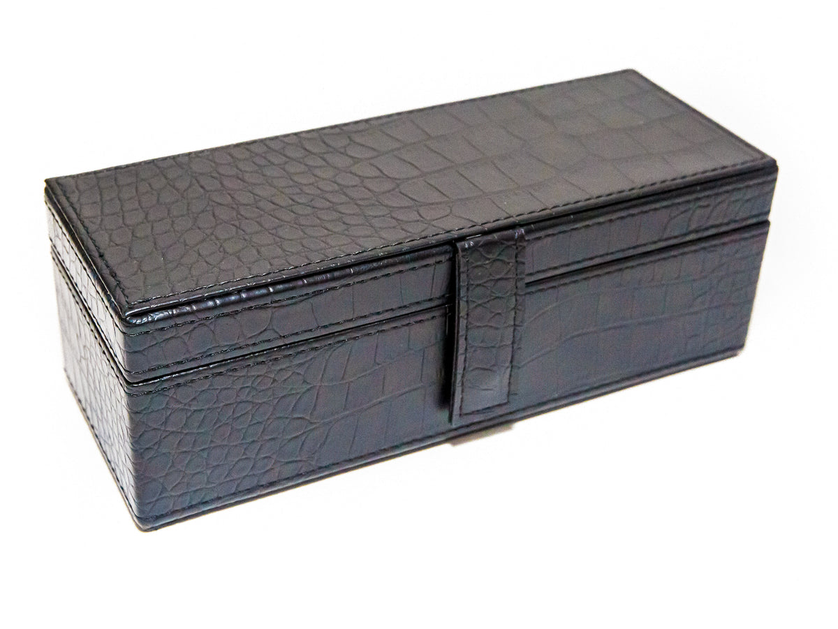 Jumbo Size Double Six Dominoes Set with premium leatherette case
