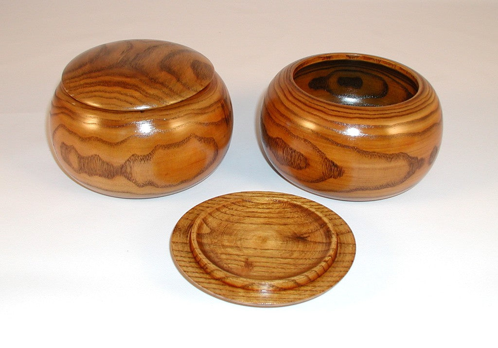 Natural Date Wood Go Bowls