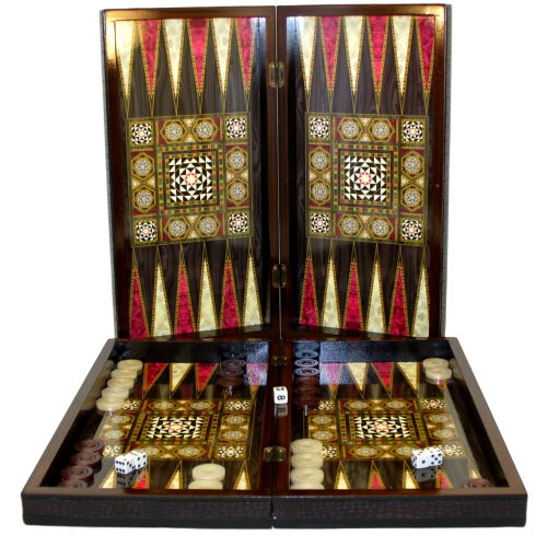 Pearl Mosaic Backgammon and Chess