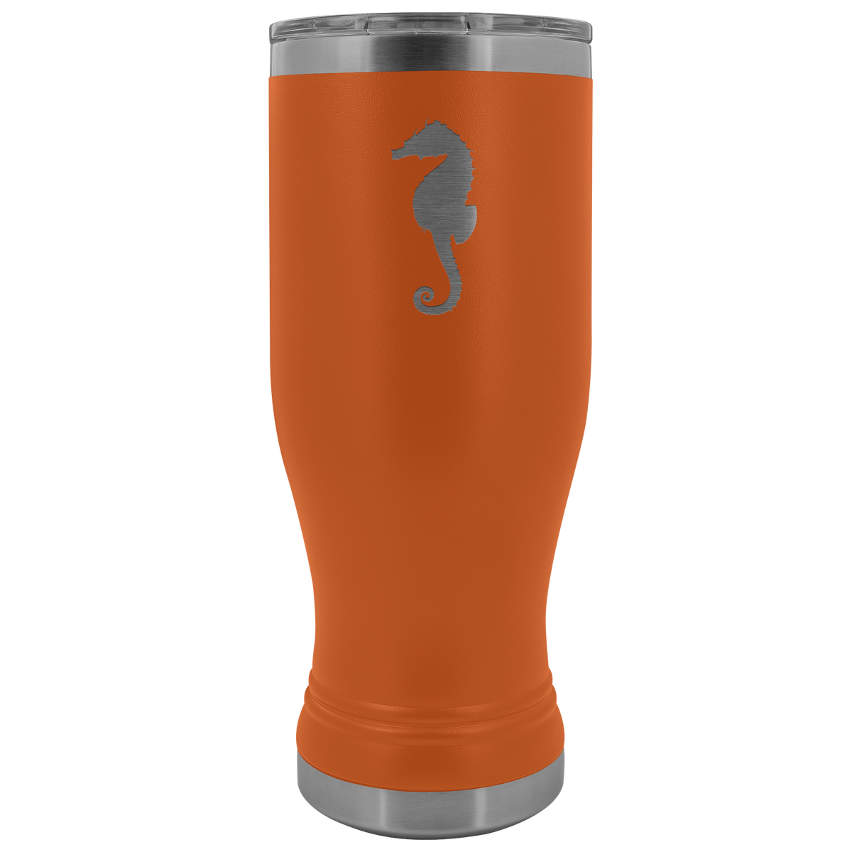 Sea horse stainless steel vacuum insulated BPA and Lead Free coffee Tumbler with clear lid