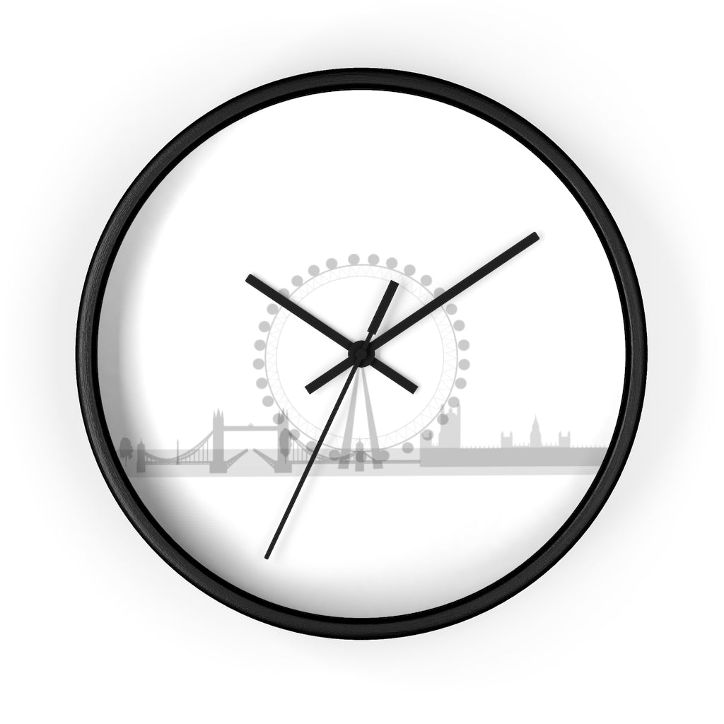 London skyline ferries wheel Wall clock