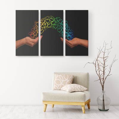 The passage of love - 3 Piece Canvas wall art