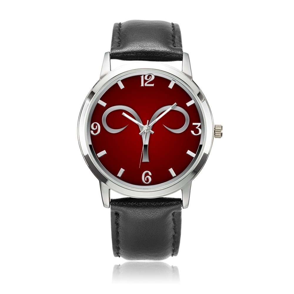 Zodiac Aries design genuine Leather 32mm / 38mm automatic water resistant Quartz wrist watch