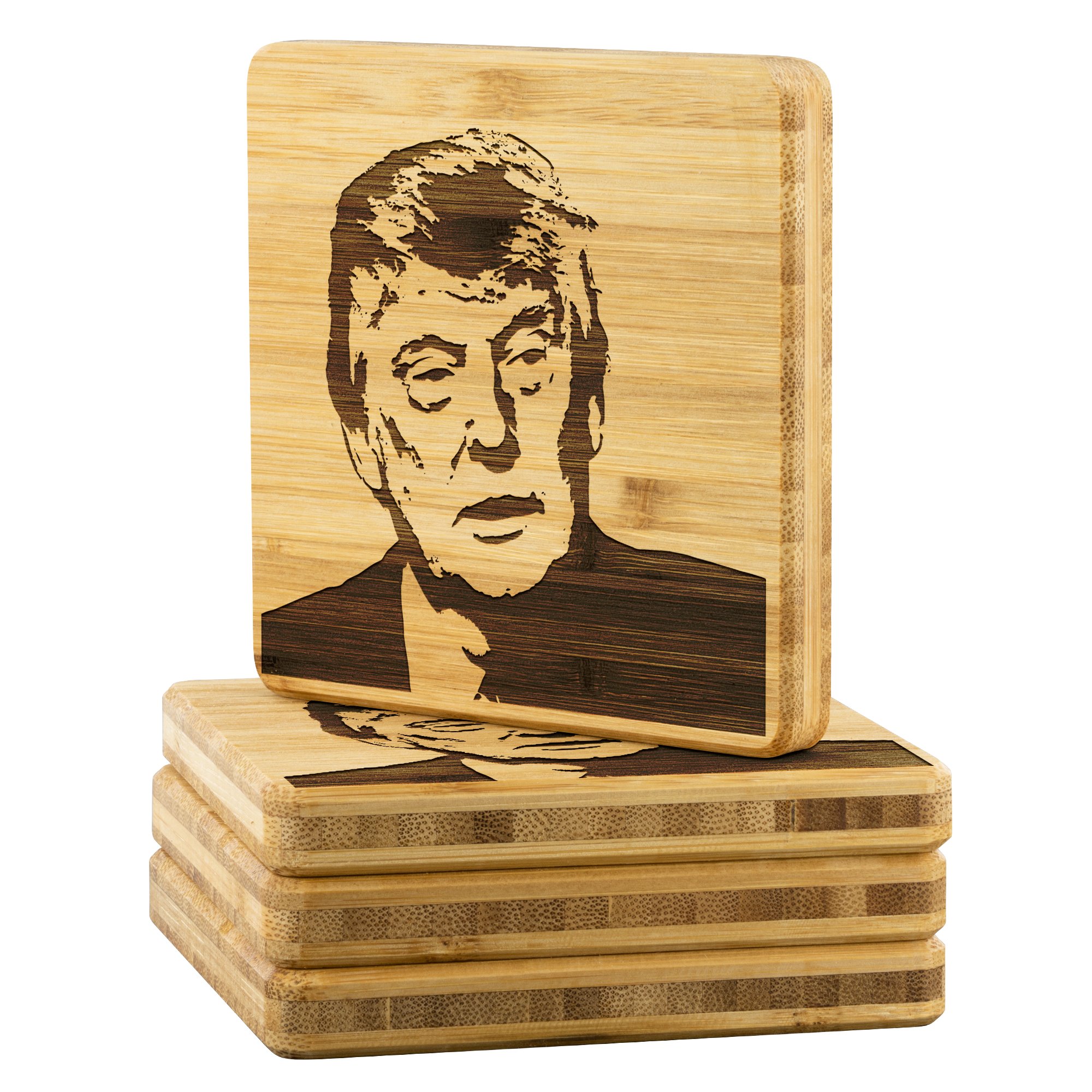 Donald J Trump - Bamboo coaster (set of 4)