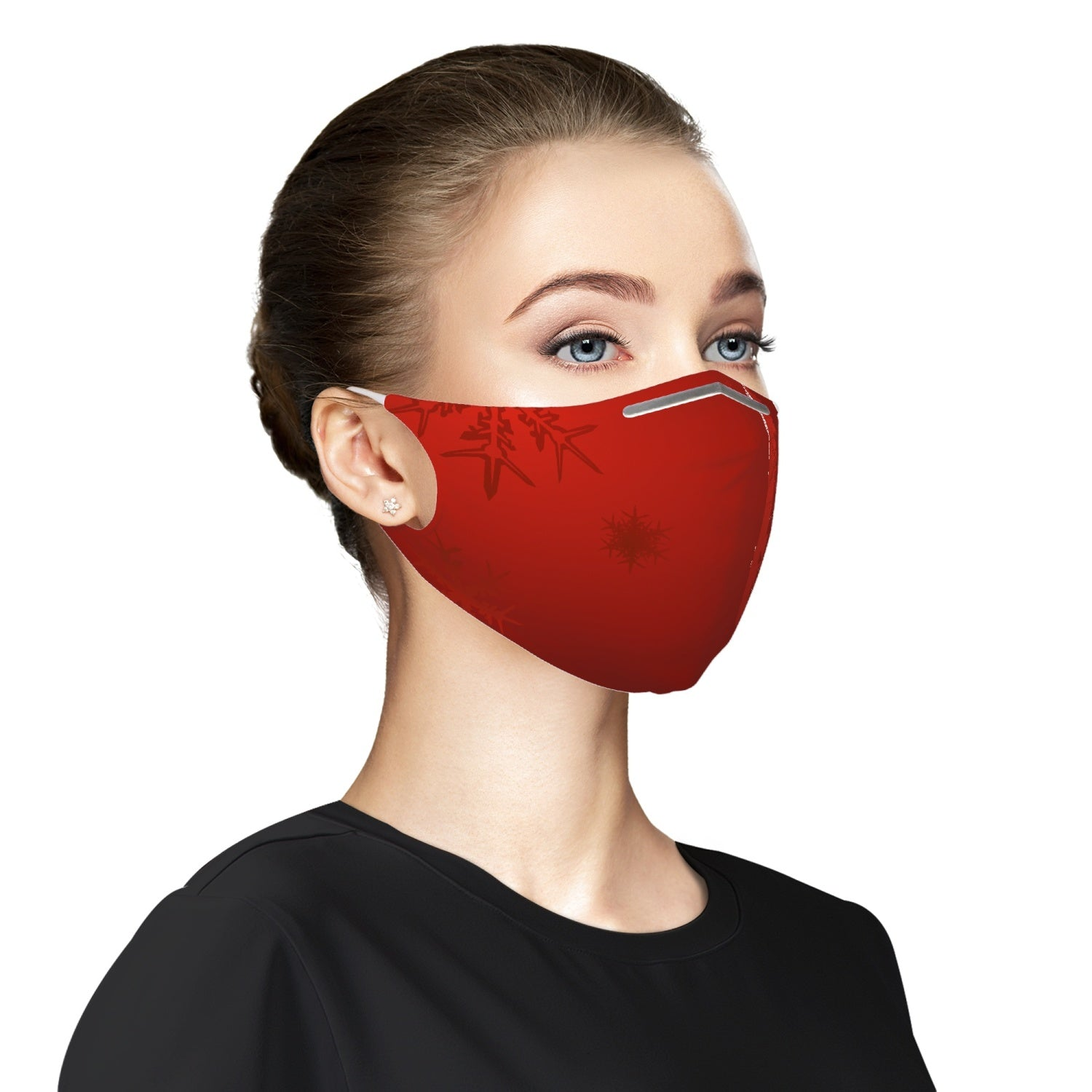 Christmas design red Cloth Face Mask For Adults