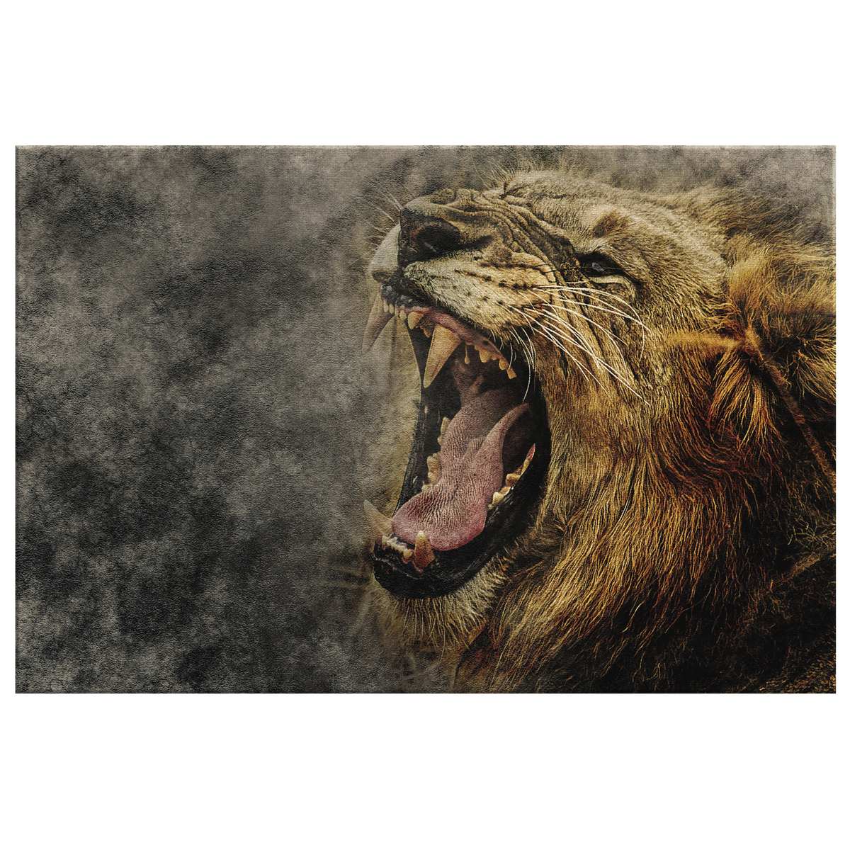 Roaring Lion - Rectangle Gallery Canvas Art