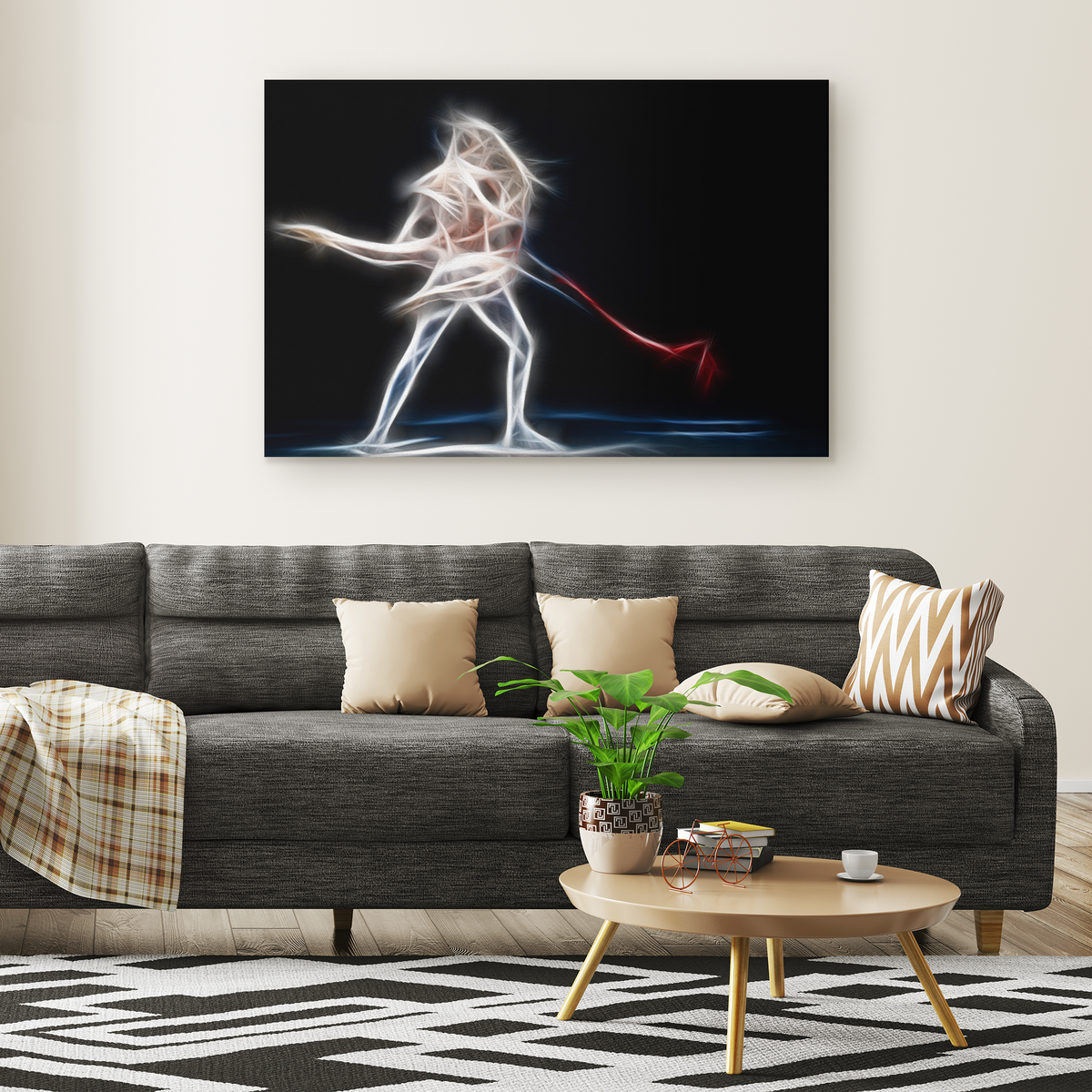 The ballet of light pair - Rectangle Gallery Canvas