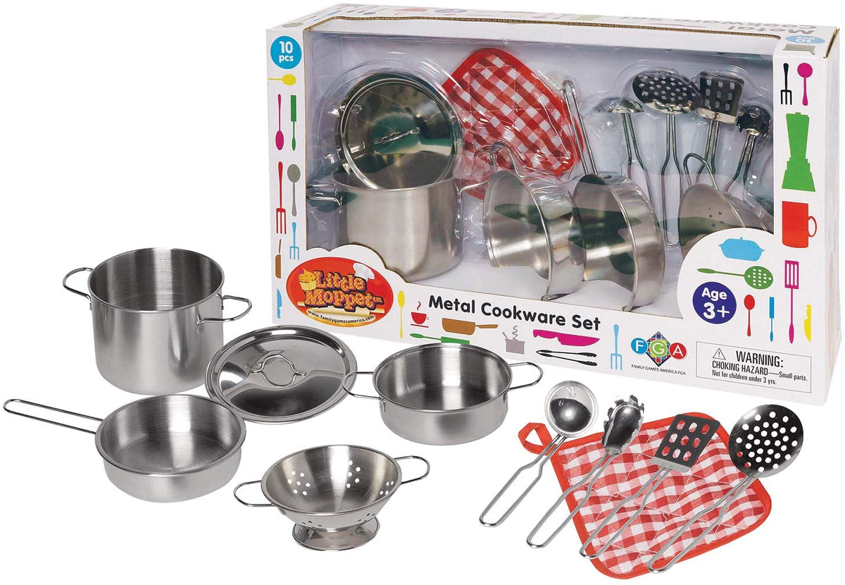 Little Moppet 10 pc Metal Cookware Set