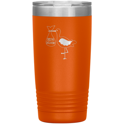 Special delivery stork 20 oz stainless steel Vacuum insulated hot and cold beverage Tumbler