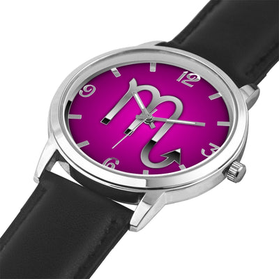 Zodiac Scorpio design genuine Leather 32mm / 38mm automatic water resistant Quartz wrist watch