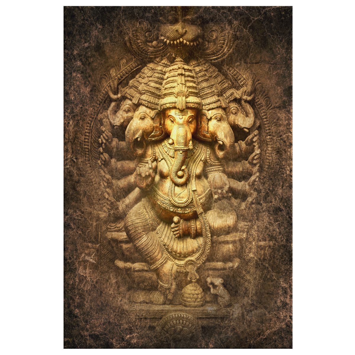Lord Ganesha, Indian God of Prosperity  - Rectangle Gallery Canvas Art