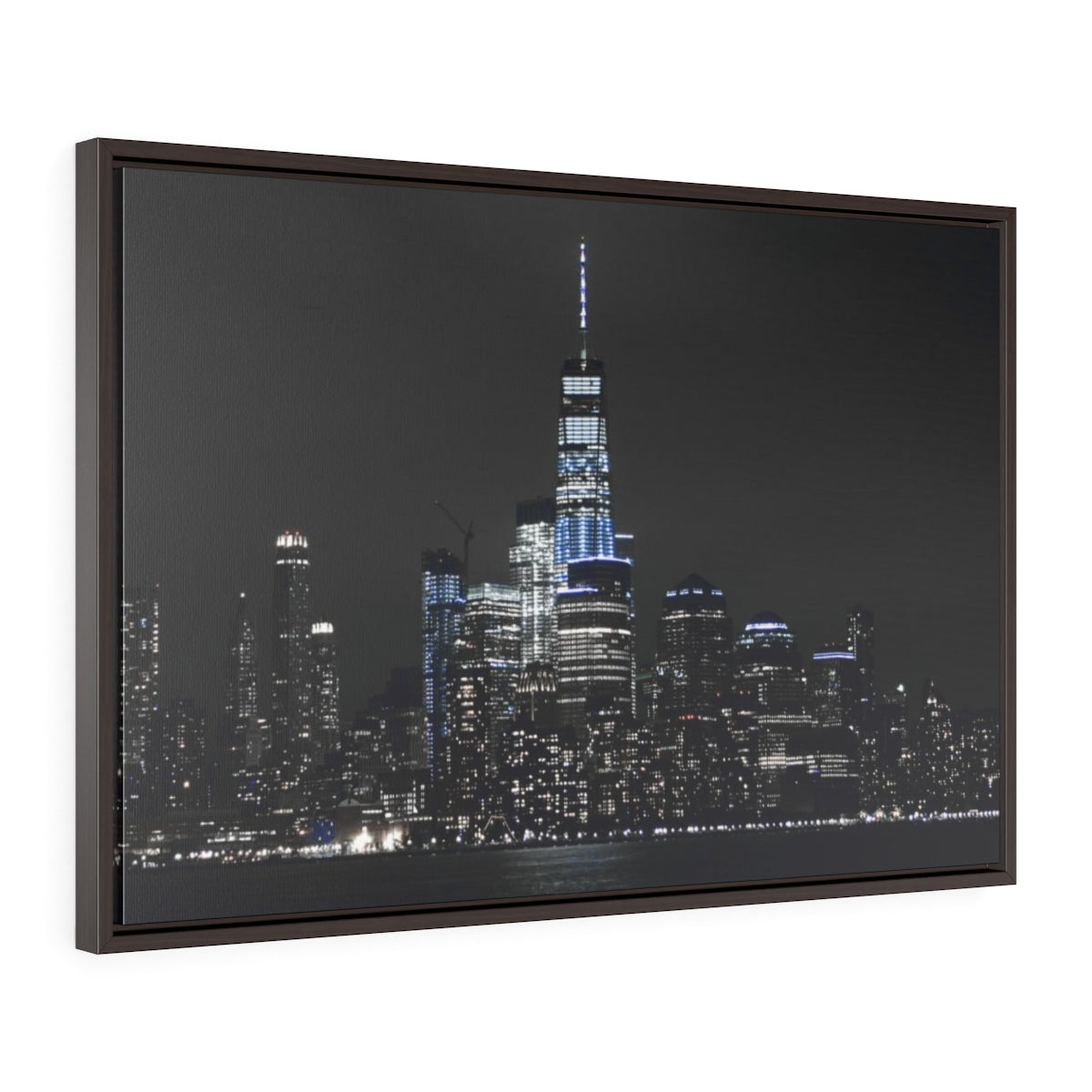 New York Skyline - Horizontal Framed Premium Gallery Wrap Canvas