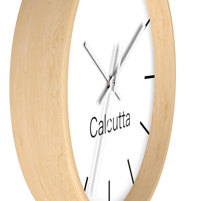 Calcutta City Name Wall clock with hourly line marks
