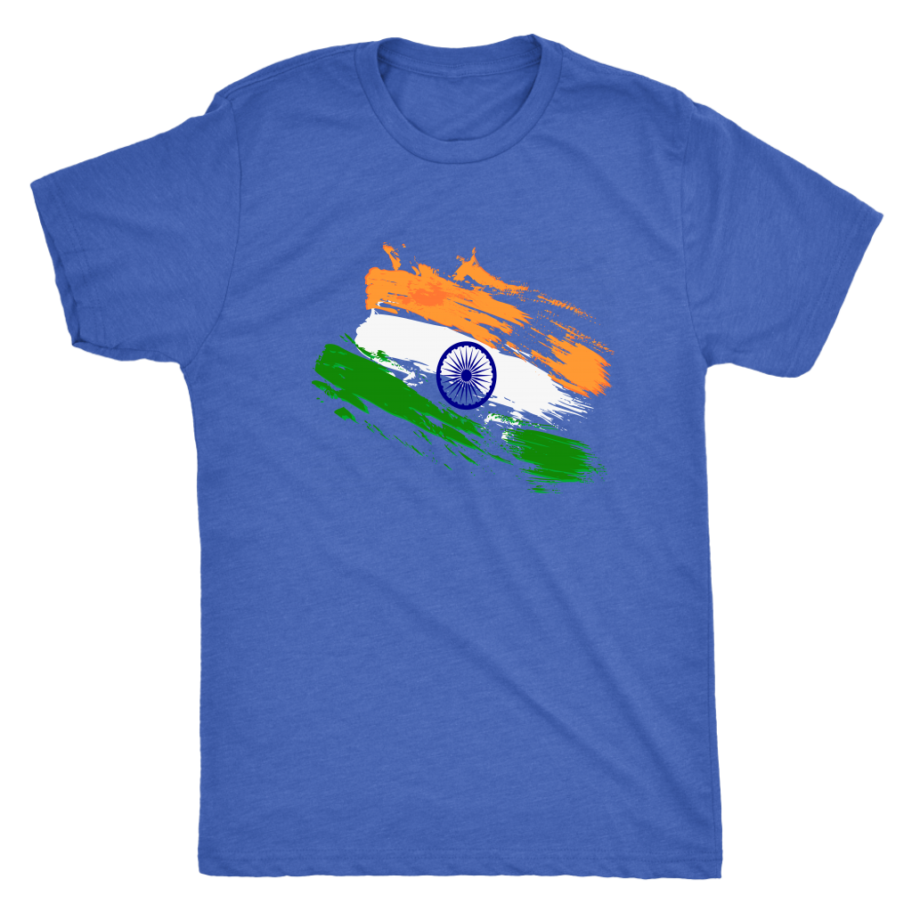 Indian flag faded strokes - Triblend T-Shirt