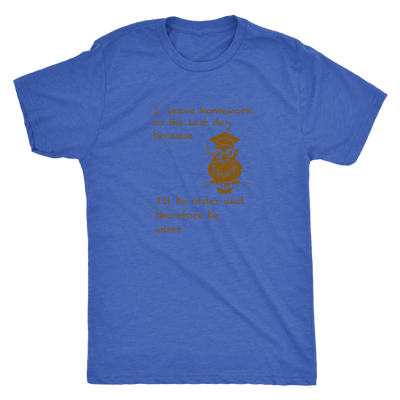 I leave homework to the last day because I will be older therefore be wiser - Triblend T-Shirt