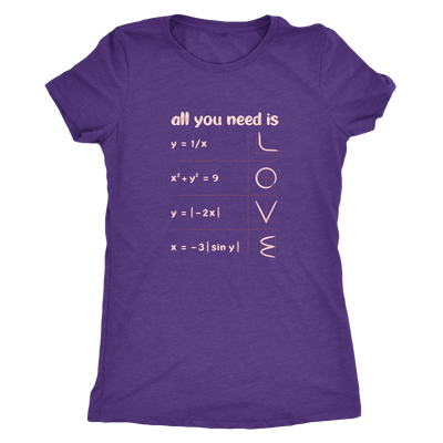 All you need is love - math equations and plot - Triblend T-Shirt