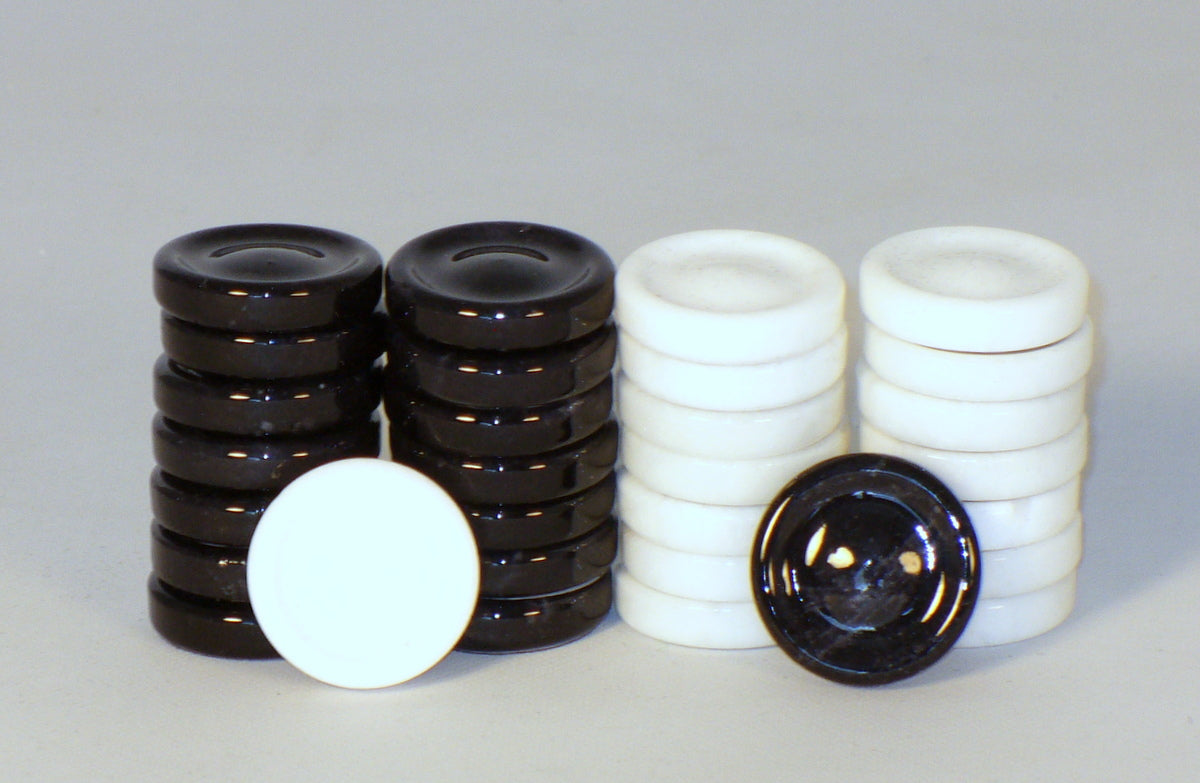 Alabaster Backgammon and Checkers Pieces