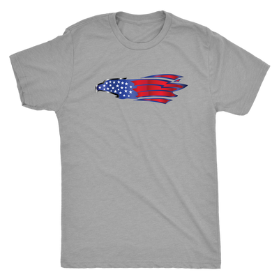 USA flag bald eagle - Triblend T-Shirt