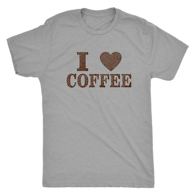 I love coffee (designed in coffee beans)  - Triblend T-Shirt