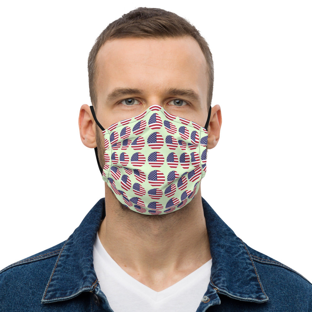 American flag dot pattern Premium face mask