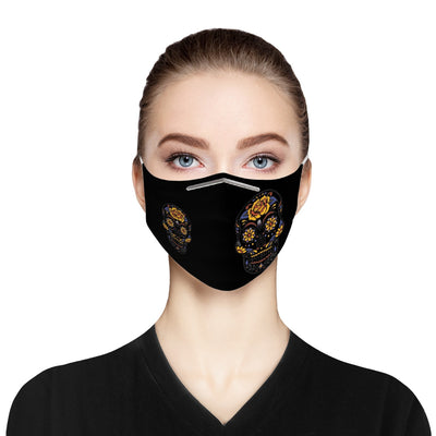 Fancy Skull Cloth Face Mask For Adults